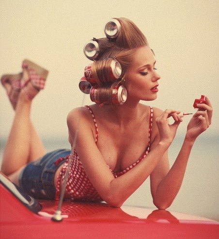 Soda Can Hair Rollers Alldaychic