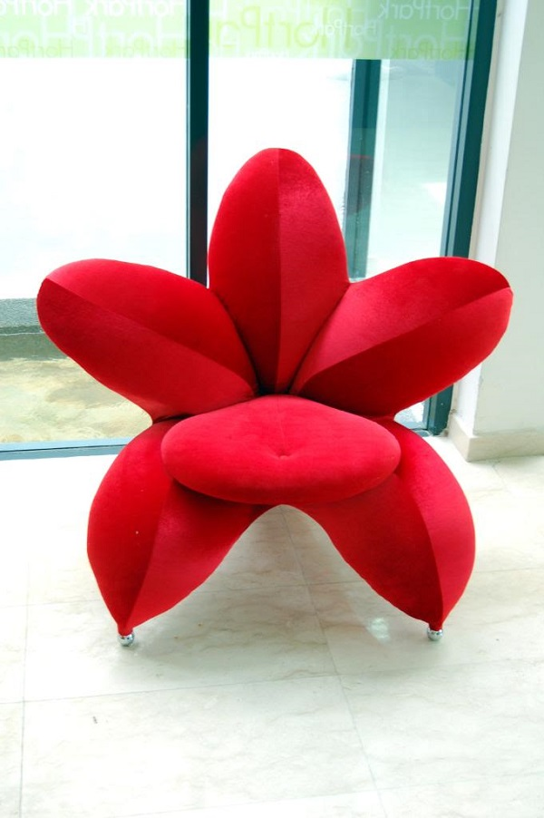 Red Blossom Flower Chair Alldaychic