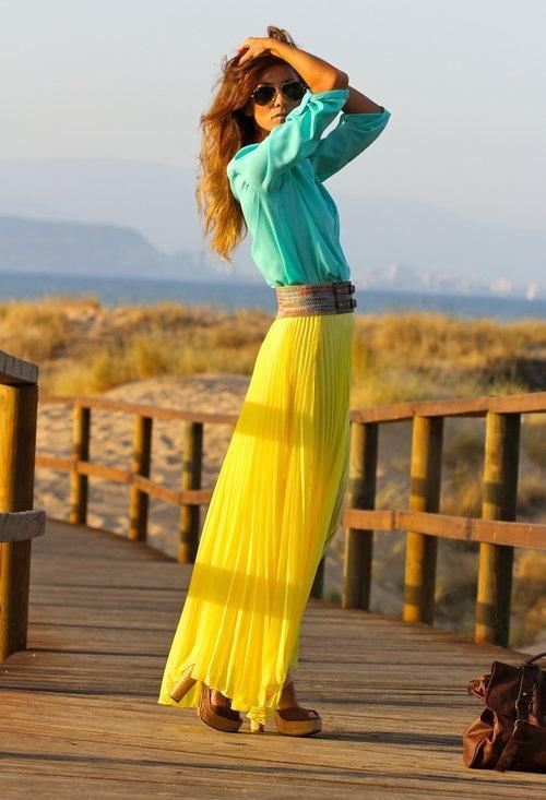 Bright Yellow Blouse