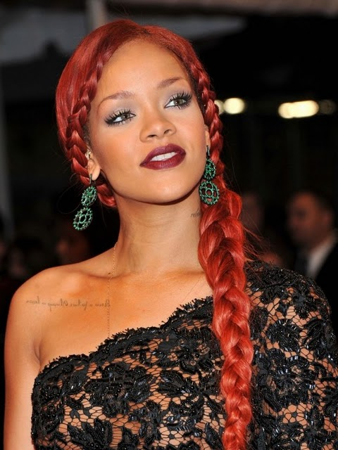 Rihanna-With-Braided-Ponytail1