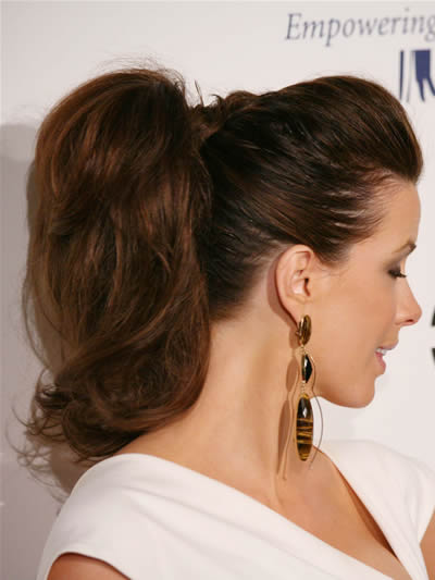 different ponytail styles for short hair 9 ways to wear ponytail hairstyles alldaychic 9071 | kate beckinsale