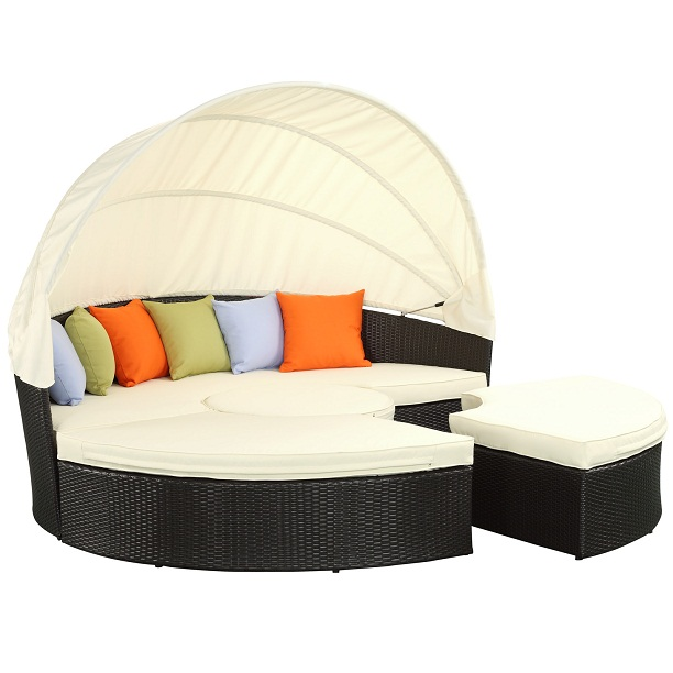 Outdoor sectional daybed with canopy alldaychic Outdoor daybed with canopy