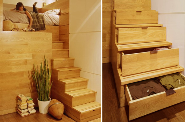 Space Under Stairs Storage Ideas 600 x 398