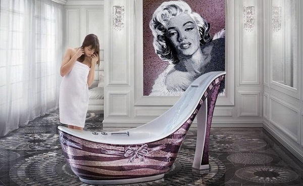 Shoe Shaped Luxury Bathtub Design AllDayChic - Hammock shaped bath tub