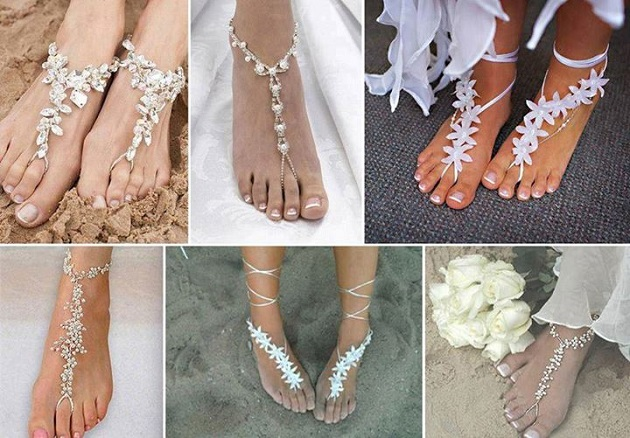 96713ffb9 Beach Wedding Barefoot Sandals Alldaychic