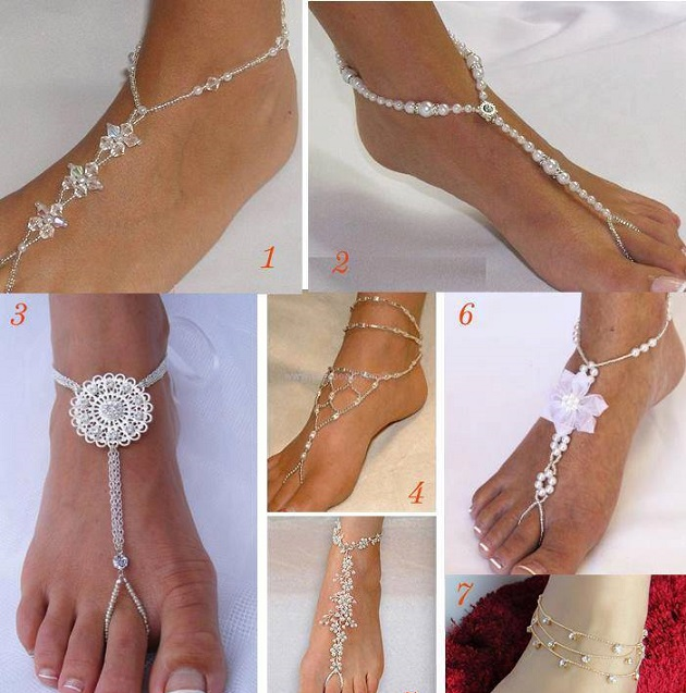 Beach Wedding Barefoot Sandals