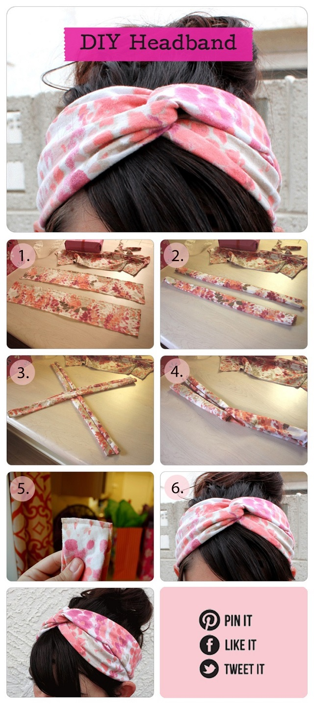 Beautiful Twisted Turban Headband - DIY