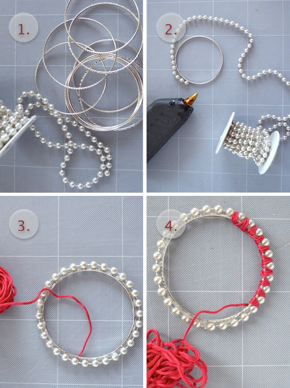 DIY 1 pearly and colourful bracelets