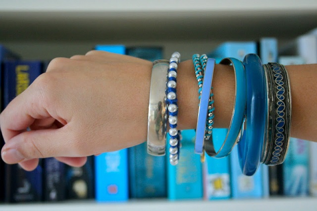 DIY 3 pearly and colourful bracelets