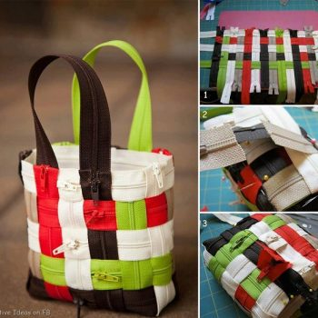 DIY zipper bag idea