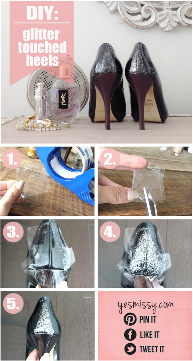 Glitter Glamorous Shoes - DIY
