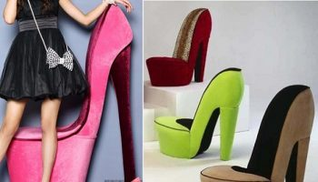 High Heeled Stiletto Shoe Chair 2