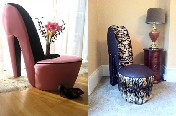 Greatest Sit Comfortably in These High Heeled Stiletto Shoe Chairs - AllDayChic EV05