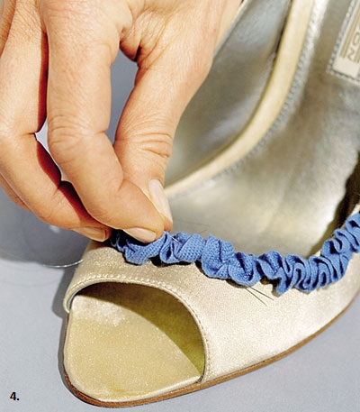 decorating shoes with ruffles 3