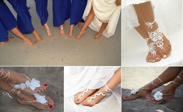 Jewellery For Foot Beach Wedding Barefoot Sandals