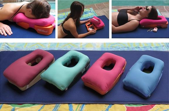 Podillow, cuscino portaoggetti per la spiaggia