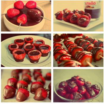 strawberries and nutella
