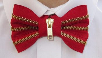 zipper bow tie