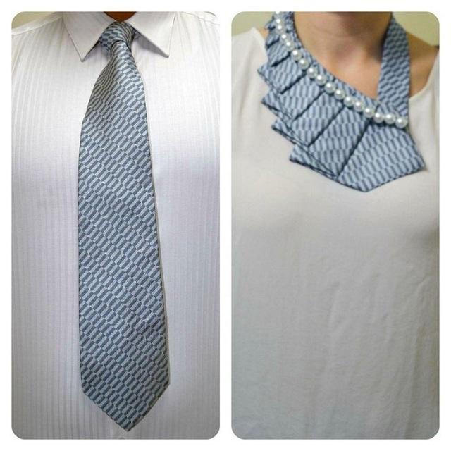 a new twist on the old necktie diy alldaychic. Black Bedroom Furniture Sets. Home Design Ideas