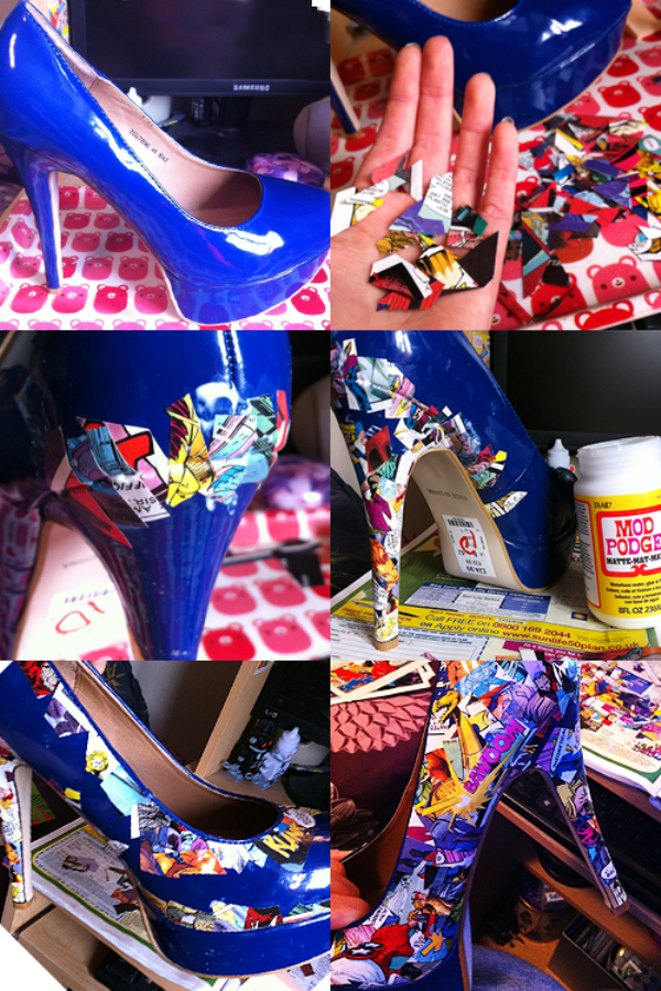 Comic Book Shoes - DIY