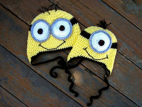 Crochet Hat Pattern For Minion : Gallery For > Crochet Minion Hat