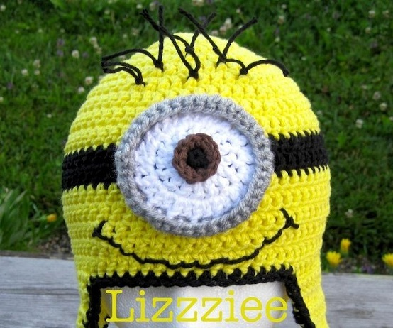 Free Crochet Hat Patterns For Minions : Despicable Me Minion Crochet Hat Pattern - AllDayChic