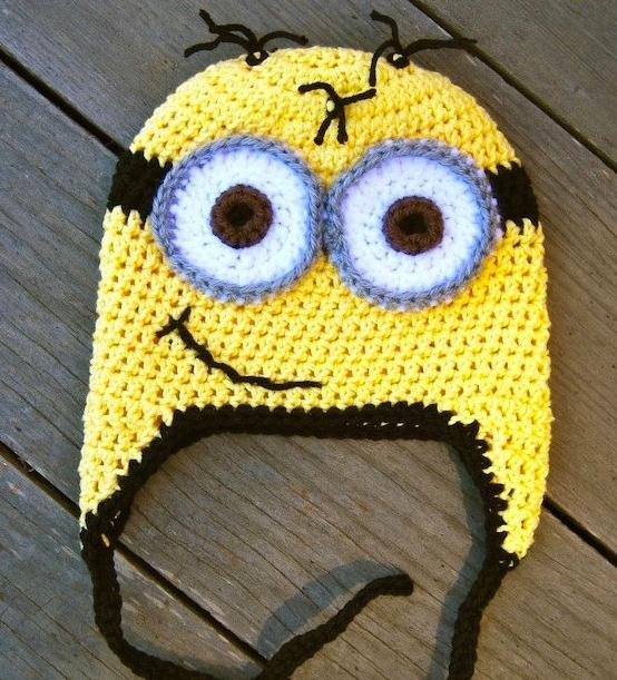 Crochet Minion Hat Pattern - Repeat Crafter Me