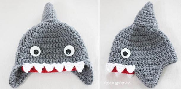 CrochetSharkHat1
