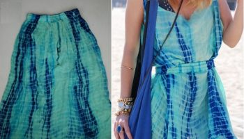 DIY-Dress-from skirt