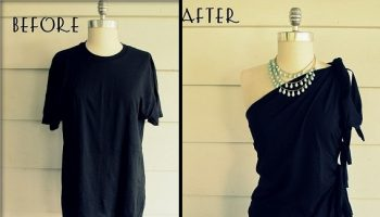 DIY-No-Sew-One-Shoulder-Shirt 1