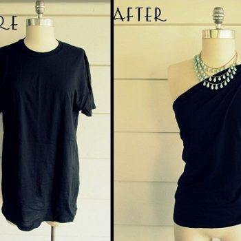 DIY-No-Sew-One-Shoulder-Shirt 1