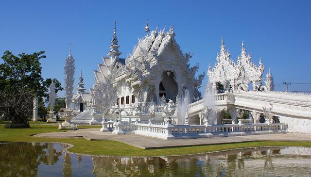 Koi-in-pond-Wat-Rong-Khun-White-Temple-Chiang-Rai-Thailand 1