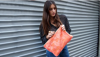 New Aspect for a Clutch Bag by Recycling a Top 1