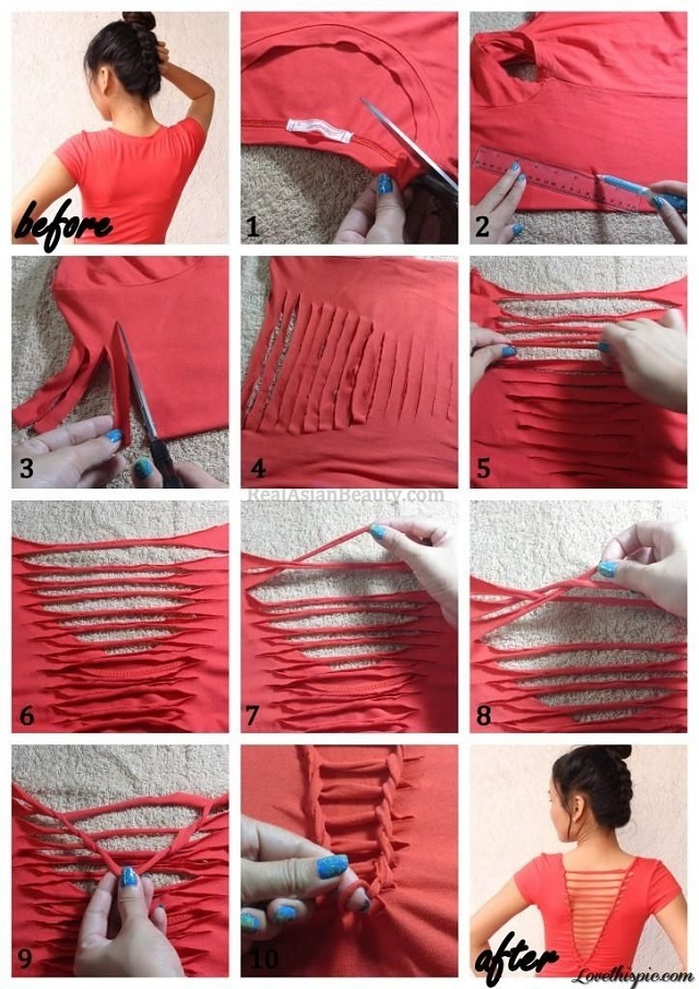 no sew and easy to make stylish t-shirt