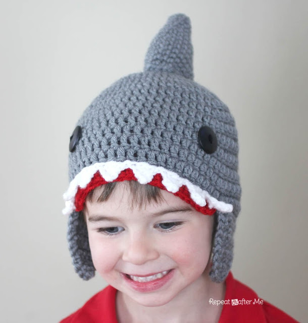 Crochet Shark Hat Pattern Alldaychic