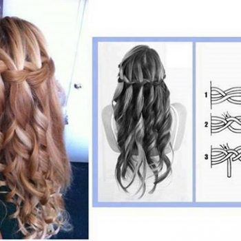 braid curls hairstyle 1