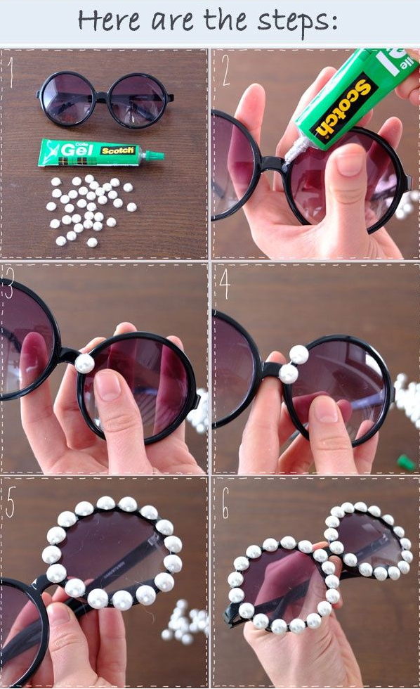 Image result for sunglasses diy with pearl