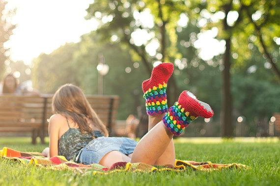 summer crochet boots 1