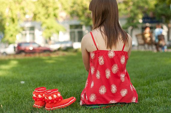 summer crochet boots 3