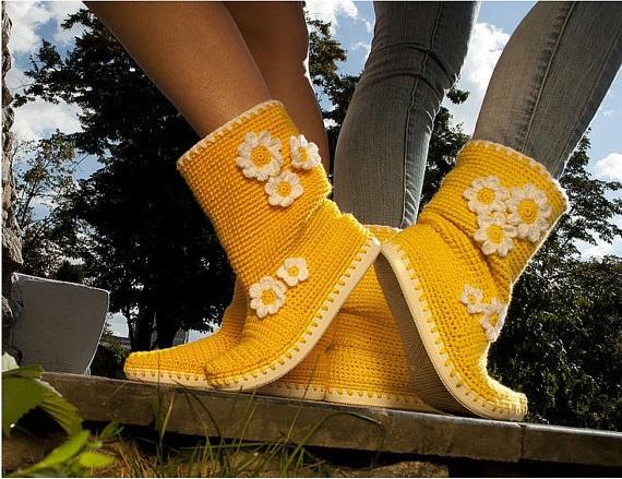summer crochet boots
