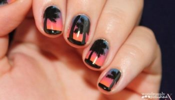 Beach Sunset Nail Design