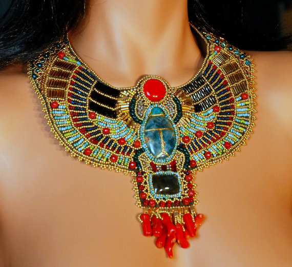 Beautiful Egyptian Themed Collar Necklace 1