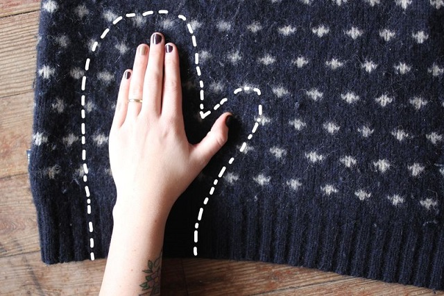 DIY Mittens from an Old Sweater 2