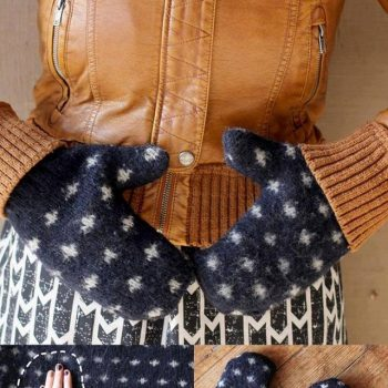 DIY Mittens from an Old Sweater
