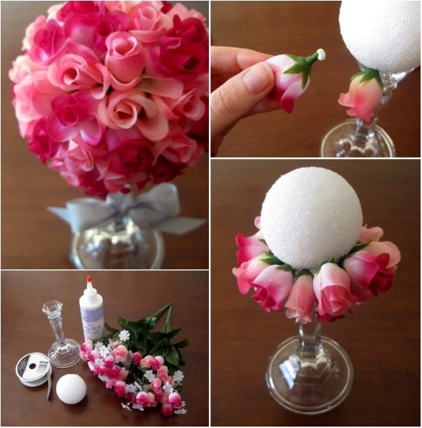 Pretty Flower Ball Bouquet - DIY - AllDayChic