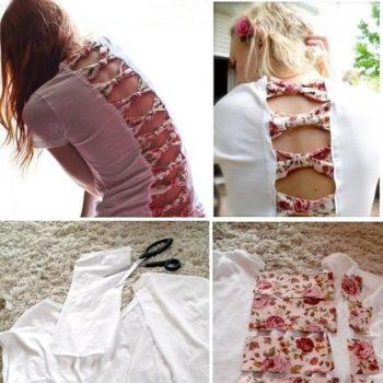 DIY bow back t-shirt