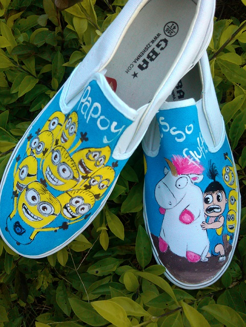 Despicable Me Minions Custom Painted Shoes  1