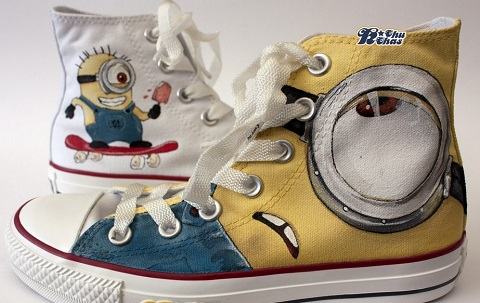 Despicable Me Minions Custom Painted Shoes 2