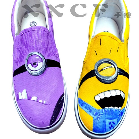 Despicable Me Minions Custom Painted Shoes 4