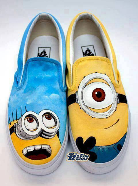 2e4193bb6ab4 Despicable Me Minions Custom Painted Shoes by ajdv on DeviantArt